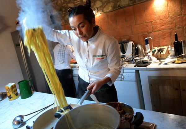 private chef in villa