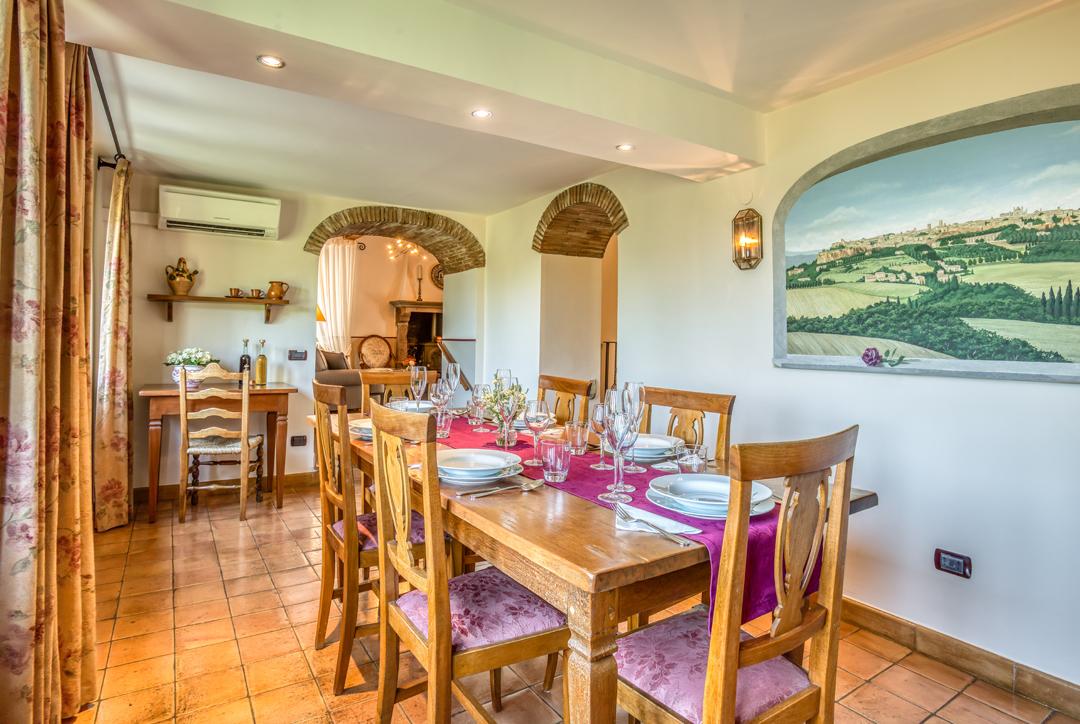 typical italian villa dining room